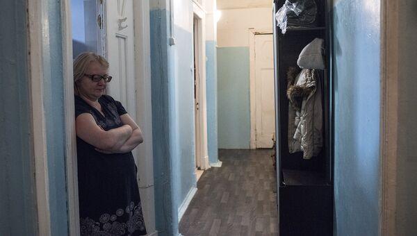 Хозяйка коммунальной квартиры на Мясницкой улице Людмила Зиновкина