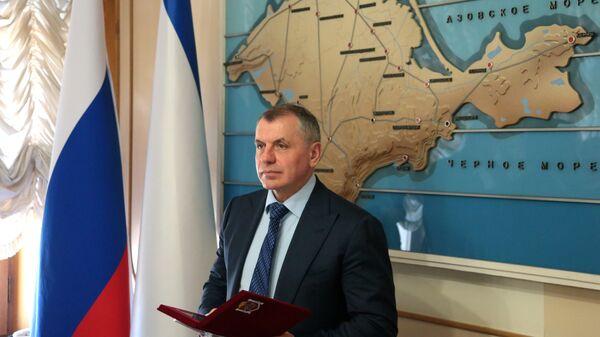 Председатель Госсовета Республики Крым Владимир Константинов. Архивное фото