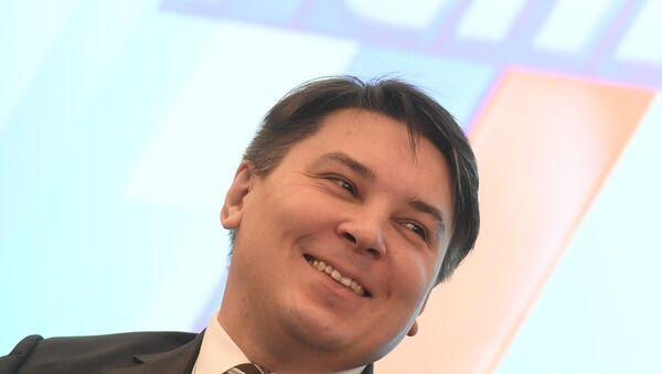 Замминистр финансов России Илья Трунин на неделе российского бизнеса в Москве. 5 февраля 2018