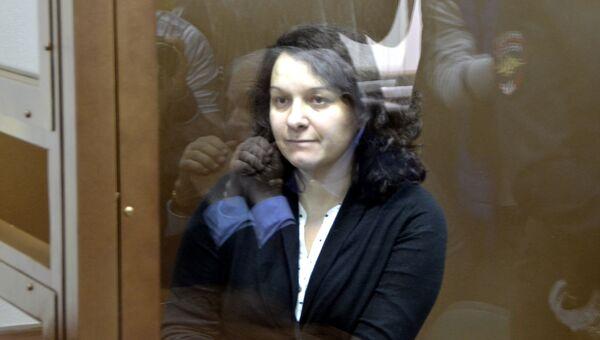 Врач-гематолог Елена Мисюрина  в зале Московского городского суда. Архивное фото