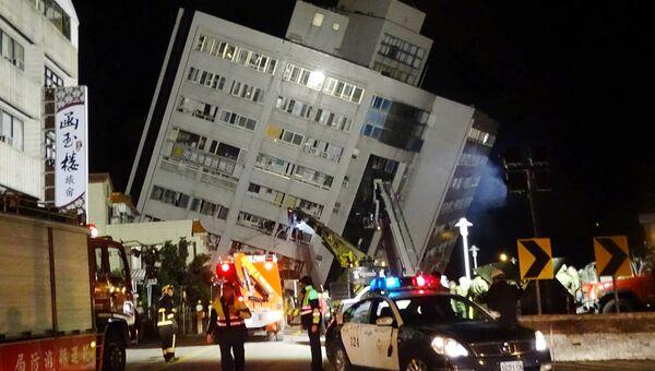 Ликвидация последствий землетрясения в уезде Хуалянь на Тайване
