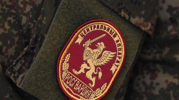 Образец шеврона военнослужащего Национальной Гвардии. Архивное фото