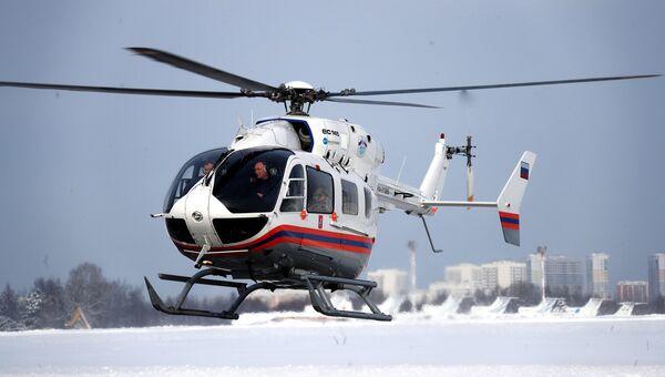 Вертолет Eurocopter EC 145 Московского авиационного центра
