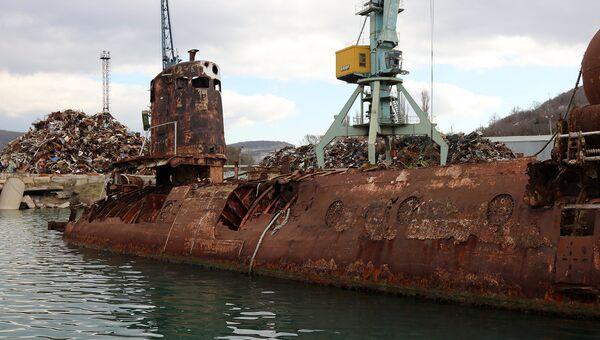 Подводная лаборатория Бентос 300 в Севастопольской бухте в районе Инкермана