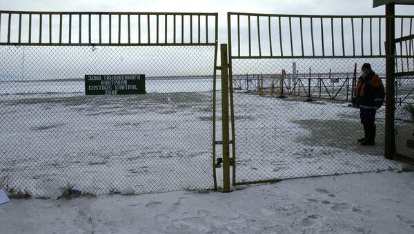 Зона таможенного контроля на российско-китайской границе