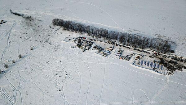 Место крушения Ан-148 в Московской области. 12 февраля 2018