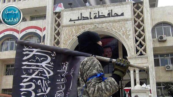 Боевик террористической группировки Джебхат ан-Нусра (организация запрещена в РФ). Архивное фото