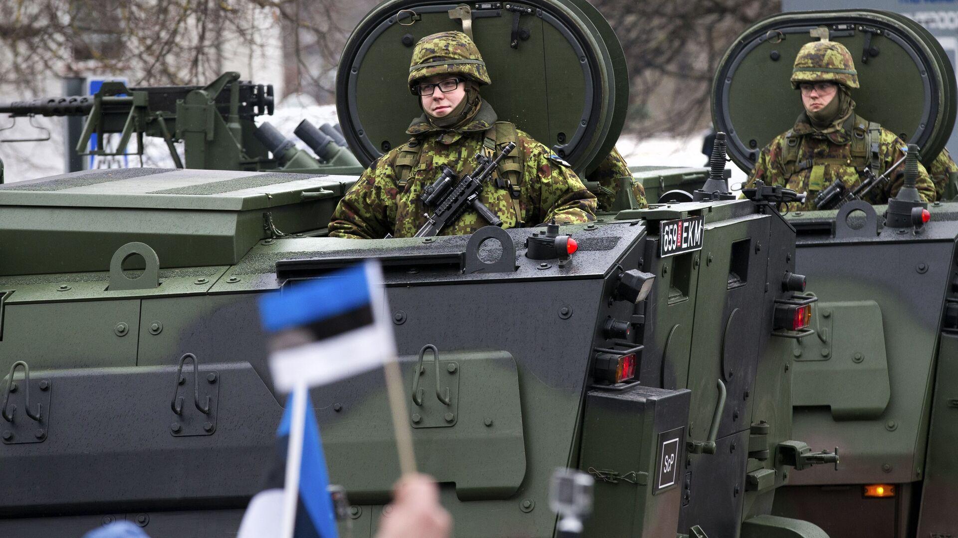Парад эстонских войск в Нарве в день независимости Эстонии - РИА Новости, 1920, 07.03.2021