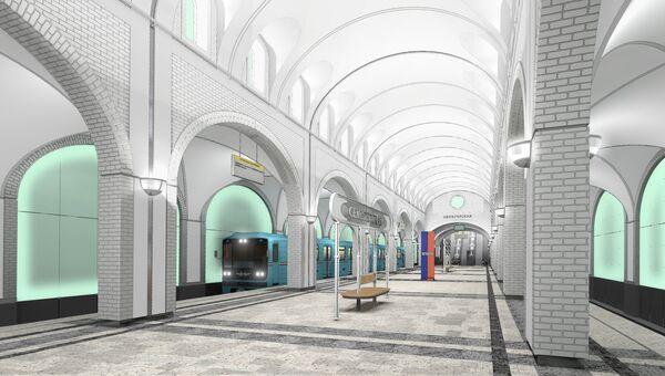 Визуализация проекта станции Селигерская
