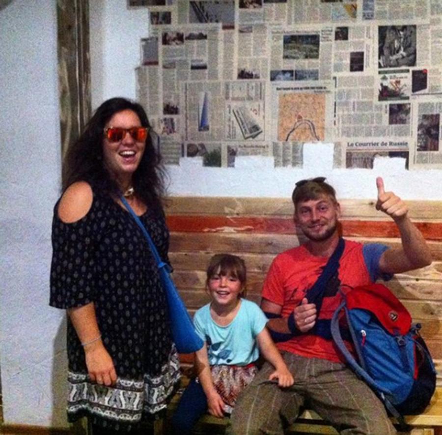 Семья из Германии, постояльцы хостела Хорошие новости