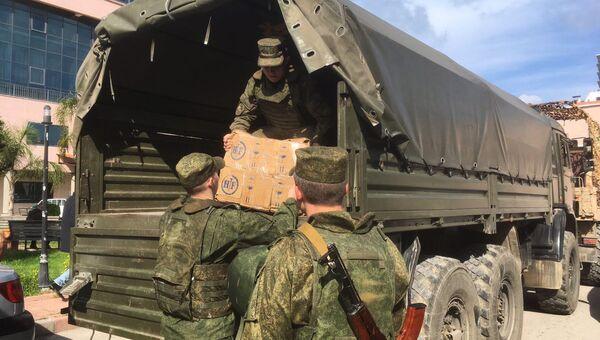 Российские военные доставили медикаменты для медучреждений в Латакии