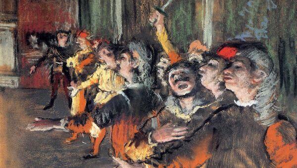 Эдгар Дега. Хористы. 1877
