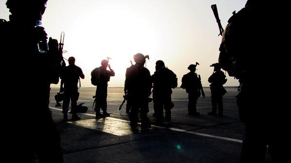 Солдаты спецназа США (зеленые береты) в Афганистане