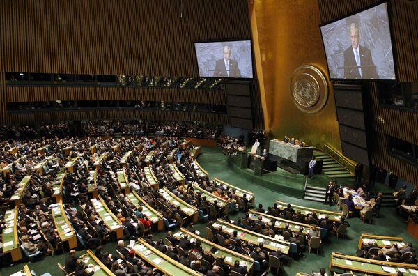 Выступление президента США Джорджа Буша на Генассамблее ООН