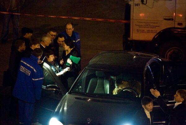 В центре Москвы расстреляли Мерседес экс-депутата Госдумы