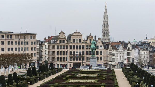Вид на одну из улиц Брюсселя, Бельгия. Архивное фото