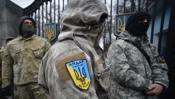 Бойцы батальона Айдар. Архивное фото