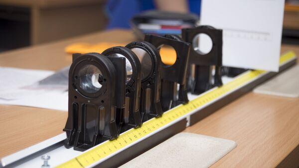 Оптическая скамья с набором линз