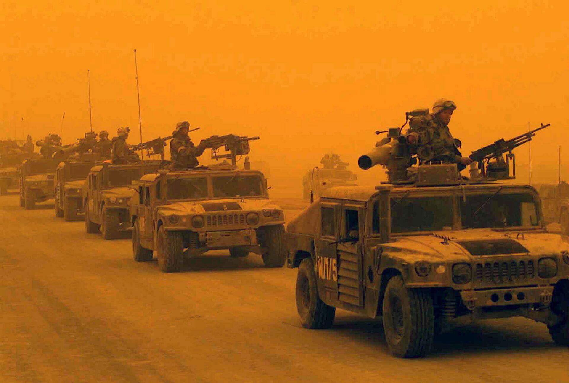 1-й разведывательно-дозорный батальон 1-й дивизии морской пехоты США в Ираке - РИА Новости, 1920, 19.02.2021