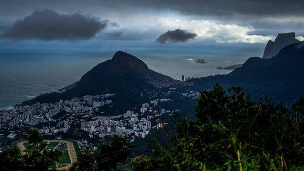 Вид на Рио-де-Жанейро от статуи Христа-Искупителя