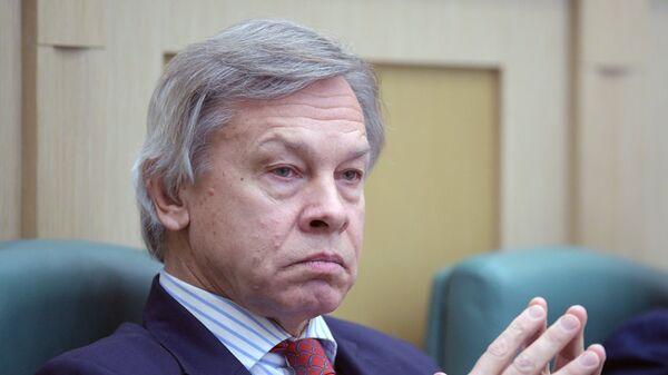 Член Совета Федерации Алексей Пушков. Архивное фото