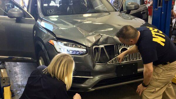 Беспилотный автомобиль Uber, сбивший велосипедистку в американском городе Темпе. 20 марта 2018