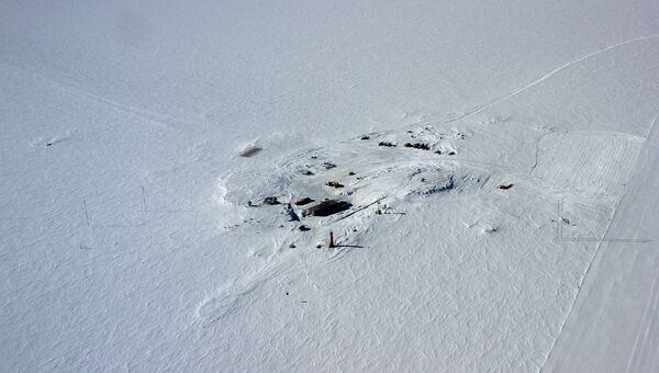 Вид на антарктическую станцию Восток