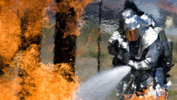 Пожарные ВВС США в Калифорнии. Архивное фото
