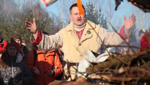 Жрец Союза славянских общин славянской родной веры Вадим Казаков