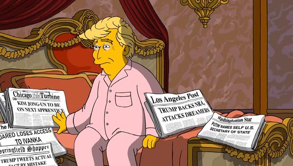 Путин в новой серии Симпсонов стал госсекретарем США