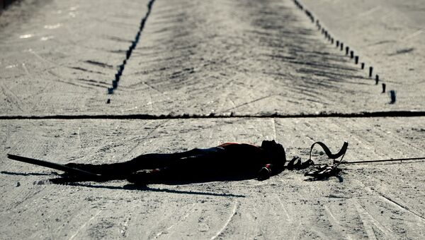 Йоханнес Бё (Норвегия) после финиша спринта среди мужчин на чемпионате мира по биатлону в австрийском Хохфильцене. Специальный фотокорреспондент МИА Россия сегодня Алексей Филиппов занял второе место в категории Спортивные истории (Story Sports) на международном фотоконкурсе Istanbul Photo Awards