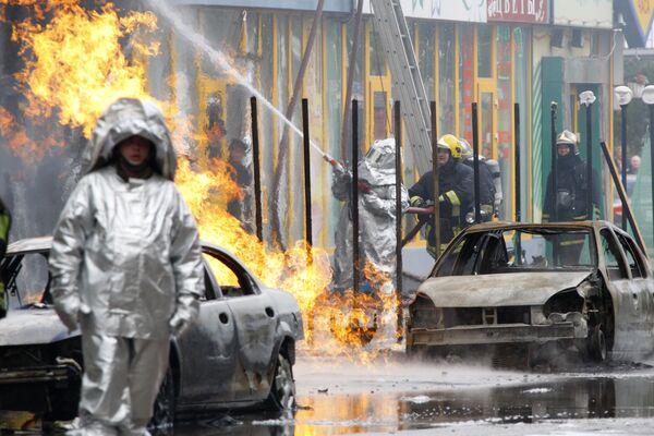 Взрыв газа на севере Москвы