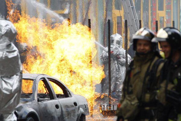 Взрыв газа и пожар на севере Москвы