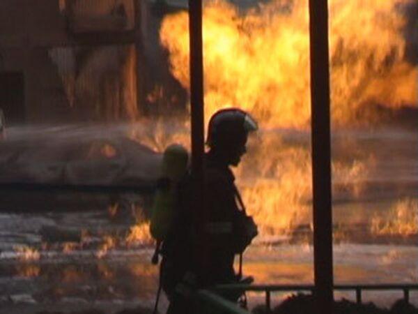 Мощный взрыв газопровода в Москве. Видео очевидца