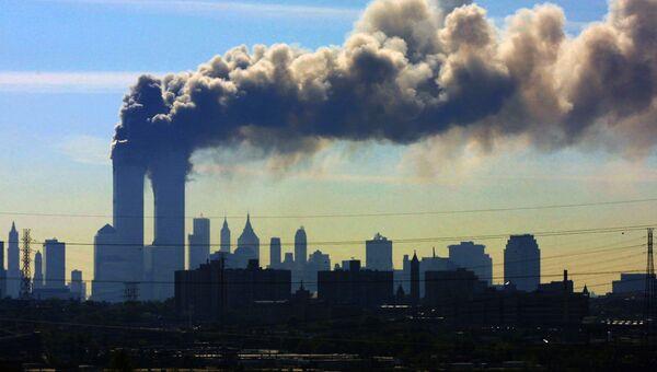 Теракт 11 сентября 2001 в Нью-Йорке. Архивное фото
