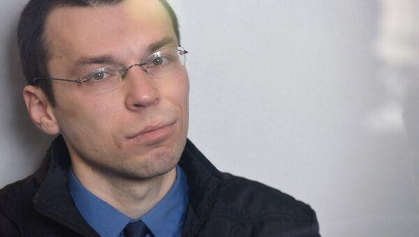 Журналист Василий Муравицкий на заседании в суде Житомира. 29 марта 2018