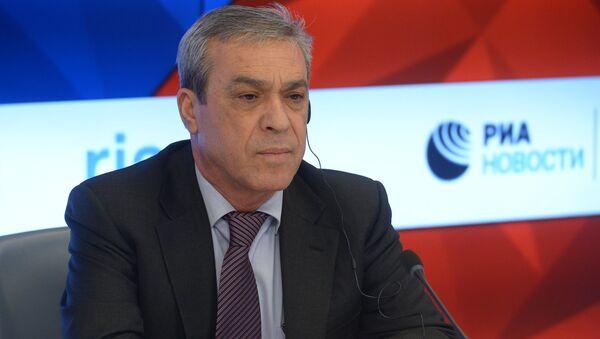 Посол Палестины в РФ Абдельхафиз Нофаль во время пресс-конференции в МИА Россия сегодня