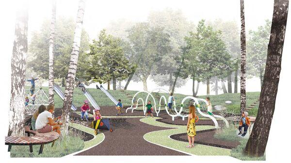 Проект комплексного благоустройства и озеленения территории Парка Дружбы