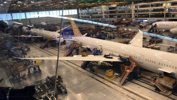 Самолеты фирмы Boeing на заводе в Южной Каролине. Архивное фото