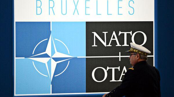Логотип НАТО в Брюсселе