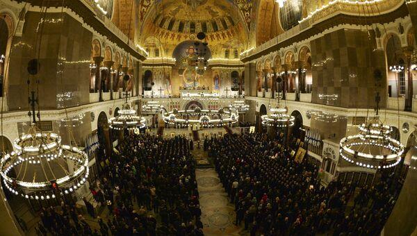 Празднование Пасхи в Ставропигиальном Никольском морском соборе в Кронштадте