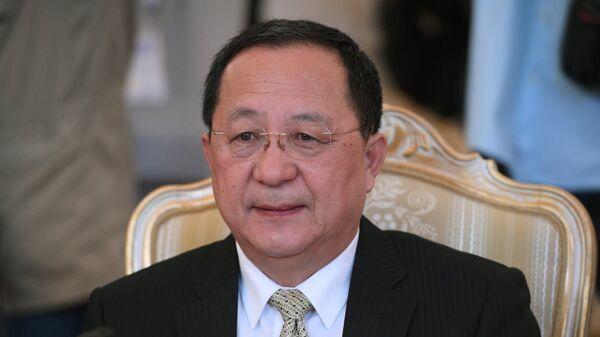 Министр иностранных дел КНДР Ли Ён Хо. Архивное фото