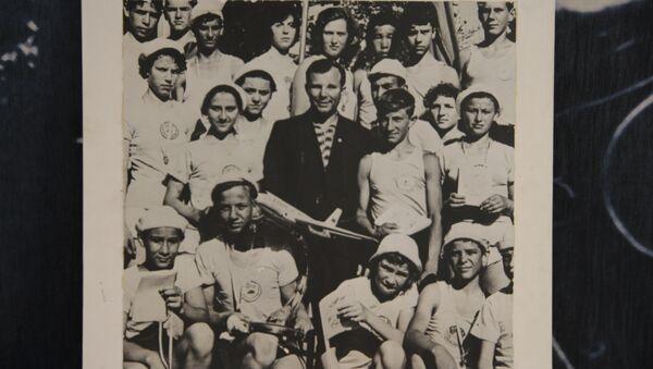 Ю. А. Гагарин и артековцы