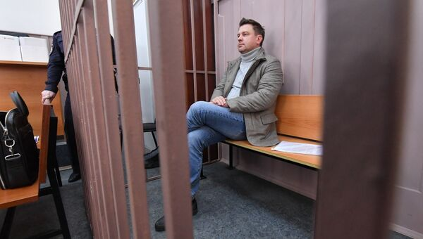 Алексей Нащекин в Басманном районном суде. 12 апреля 2018
