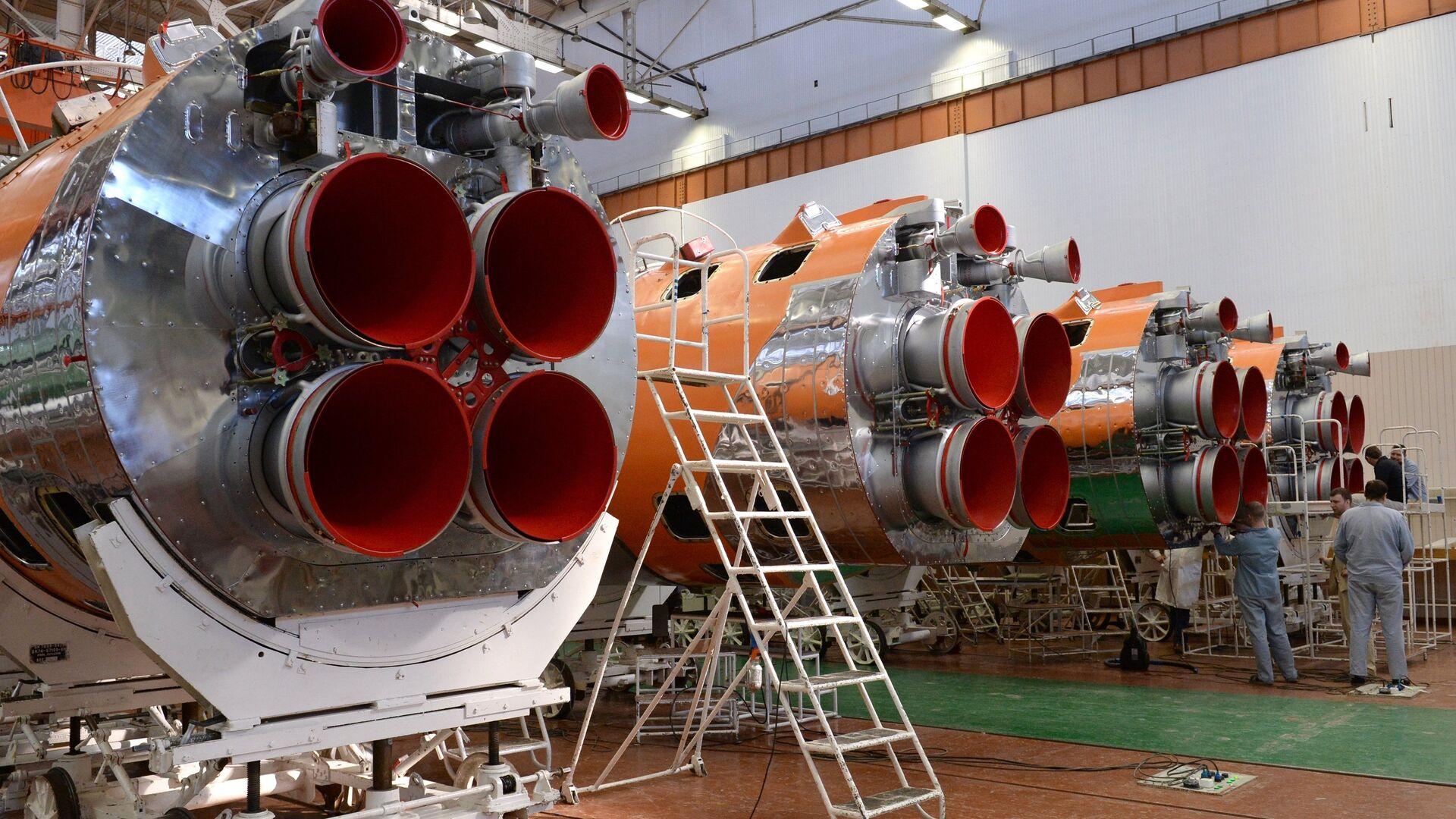 Сборка ракет-носителей в одном из цехов РКЦ Прогресс в Самаре - РИА Новости, 1920, 19.10.2020