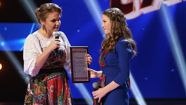 Певица Марина Девятова и участница конкурса Ты супер! Марина Ефимова