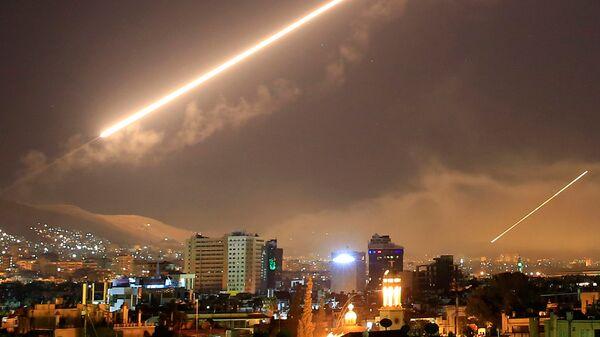 Удар коалиции в Дамаске, Сирия. 14 апреля 2018