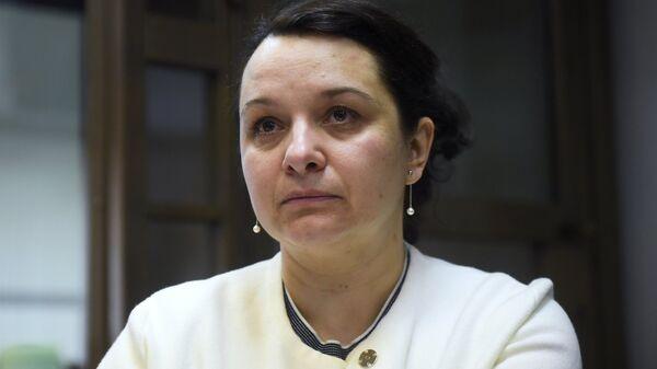 Врач-гематолог Елена Мисюрина в зале Московского городского суда. 16 апреля 2018