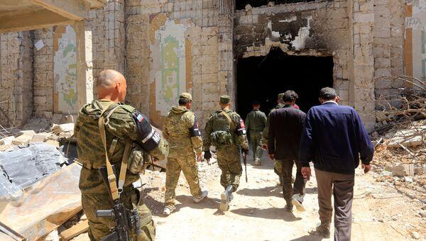 Военнослужащие российской военной полиции в городе Дума. Архивное фото