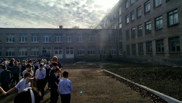 Пожар в школе №1 в Стерлитамаке
